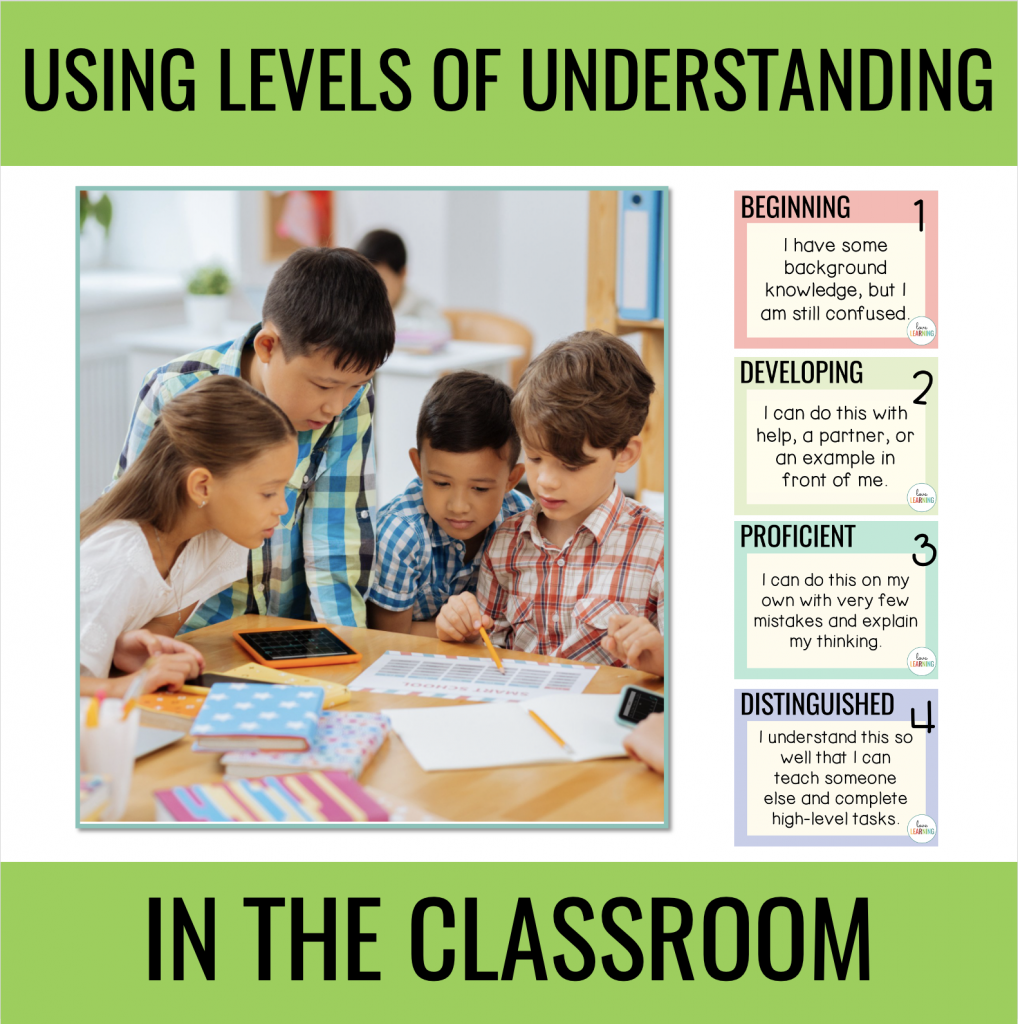Levels of Understanding for Students